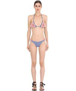 LA REVECHE | Shayna Petal Embellished Lycra Bikini