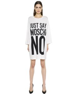Moschino | Oversized Just Say Print Jersey Dress