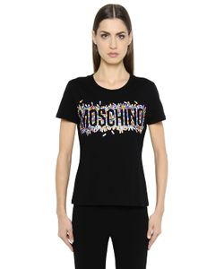 Moschino | Pill Logo Printed Cotton Jersey T-Shirt