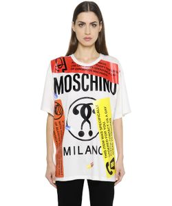 Moschino | Oversized Labels Printed Jersey T-Shirt
