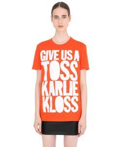 House Of Holland | Футболка Karlie Kloss Из Хлопкового Джерси