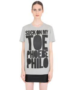 House Of Holland | Футболка Phoebe Philo Из Хлопкового Джерси
