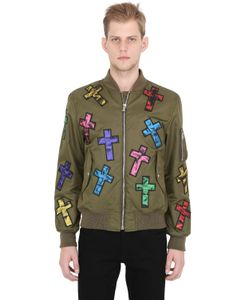 Moschino | Куртка-Бомбер Из Техноатласа