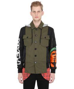 Moschino | Куртка Из Техногабардина И Атласа