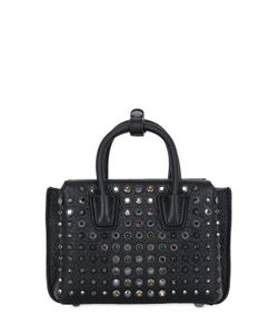 MCM | Milla Crystal Leather Shoulder Bag