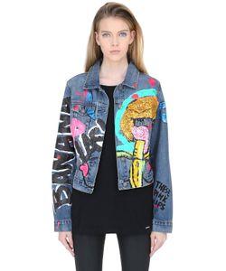 PATRICIA FIELD ART FASHION   Куртка Из Деним Рисунок Ручной Работы Iris Bonner