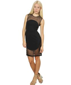 Stella Mccartney | Платье Из Вискозного Кади И Шелковой Органзы