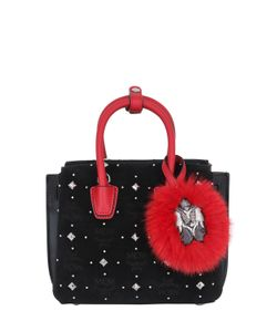 MCM | Mini Milla Studded Velvet Shoulder Bag