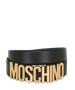 Moschino   Кожаный Ремень С Логотипом 35mm