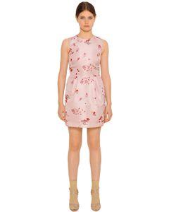 Red Valentino | Платье Из Технофай С Цветочным Принтом