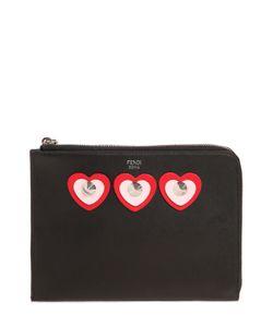 Fendi | Кожаный Клатч С Аппликациями
