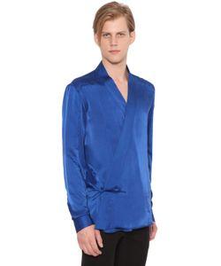 Balmain | Шёлковая Рубашка В Стиле Кимоно
