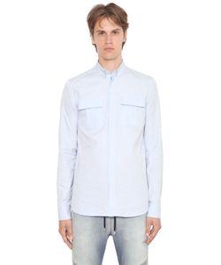Balmain | Рубашка Из Хлопка Оксфорд