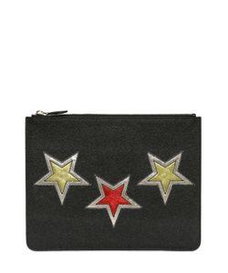 Givenchy | Кожаный Клатч С Нашивками-Звёздами