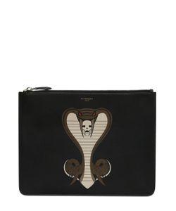 Givenchy | Кожаный Клатч С Принтом Кобра