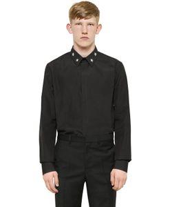 Givenchy | Рубашка Из Поплин С Металлическими Звёздами