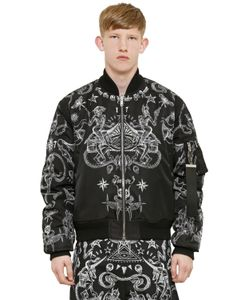 Givenchy | Двухсторонняя Куртка-Бомбер Из Нейлона С Принтом