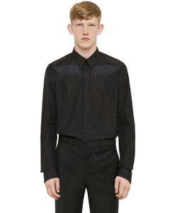 Givenchy | Рубашка Из Хлопкового Поплин С Вышивкой