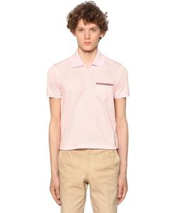 Thom Browne | Рубашка-Поло Из Хлопка Пикé