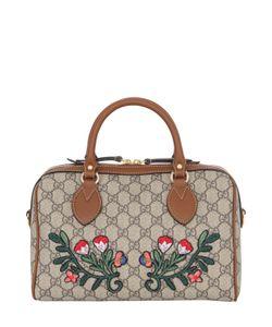Gucci | Сумка С Цветочными Нашивками И Принтом Gg Supreme