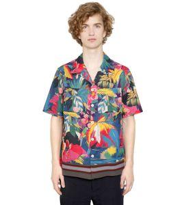 Valentino | Рубашка Из Поплин С Принтом Tropical