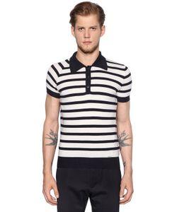 Dsquared2   Шерстяная Рубашка-Поло В Полоску
