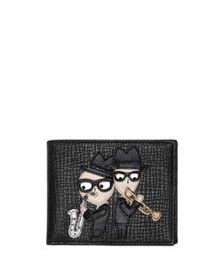 Dolce & Gabbana | Кошелёк Из Зернистой Кожи С Нашивками