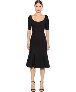 Dolce & Gabbana | Платье Из Шерстяного Стретч Крепа