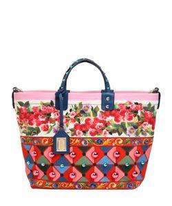 Dolce & Gabbana | Сумка Beatrice Из Канвас С Принтом И Заклёпками
