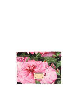 Dolce & Gabbana | Кожаная Кредитница С Принтом Розы
