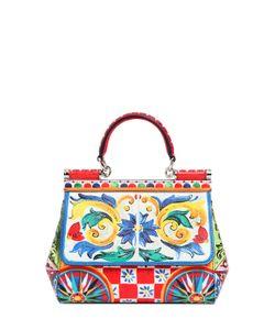 Dolce & Gabbana | Кожаная Сумка Sicily С Принтом