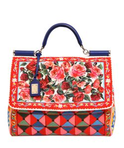 Dolce & Gabbana | Сумка Sicily Из Мягкого Канвас С Принтом