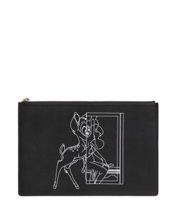 Givenchy | Кожаный Клатч С Принтом Bambi