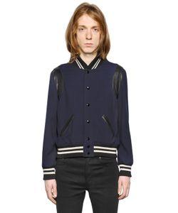 Saint Laurent   Куртка Из Шерстяного Габардина Модель Teddy