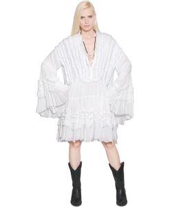 Faith Connexion | Платье Из Кружева И Вискозного Тюля С Оборками