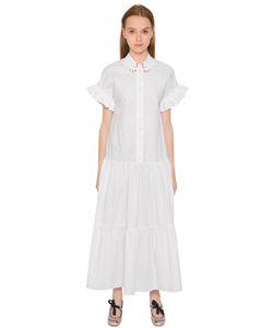 Vivetta | Платье Из Хлопкового Поплин С Оборками