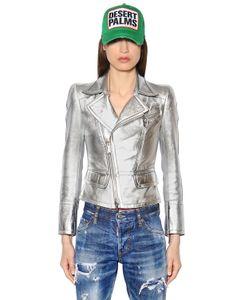Dsquared2 | Куртка Из Кожи Наппа С Эффектом Металлик
