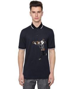 Dolce & Gabbana | Хлопковая Рубашка-Поло С Нашивкой Музыкант