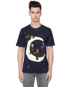 Dolce & Gabbana | Хлопковая Футболка С Принтом Music Moon
