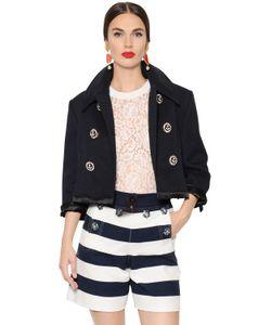 Dolce & Gabbana | Куртка Из Хлопка Пикé С Кристаллами Swarovski