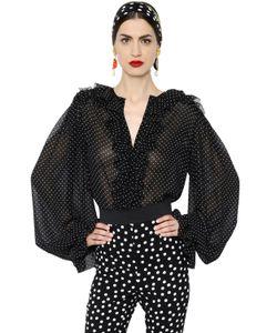 Dolce & Gabbana | Рубашка Из Жоржета В Горошек