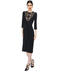 Dolce & Gabbana | Платье Из Кади С Кружевными Вставками