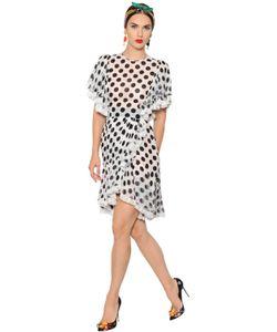 Dolce & Gabbana | Платье Из Шёлковой Вуали В Горошек