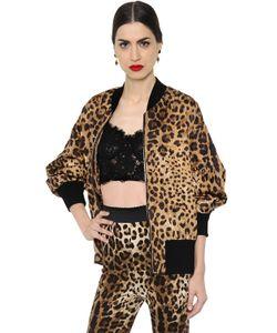 Dolce & Gabbana | Куртка-Бомбер Из Парчи С Леопардовым Принтом