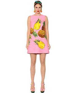 Dolce & Gabbana | Платье Из Парчи С Принтом Ананас