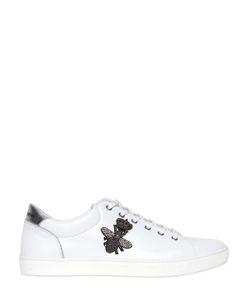 Dolce & Gabbana | Кожаные Кроссовки С Вышивкой Пчела