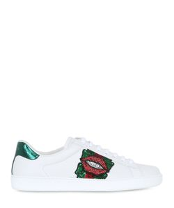 Gucci | Кроссовки Из Кожи И Змеиной Кожи