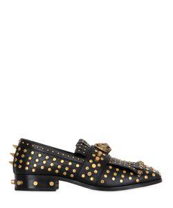 Gucci | Кожаные Лоферы С Заклёпками И Бахромой