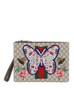 Gucci | Клатч С Вышивкой Бабочка
