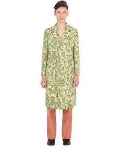 Gucci | Пальто Из Полухлопкового Жаккарда
